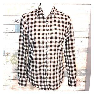 J Crew gingham shirt size 2